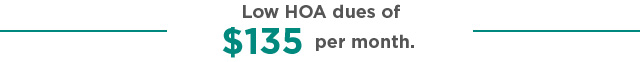 Low HOA dues of
