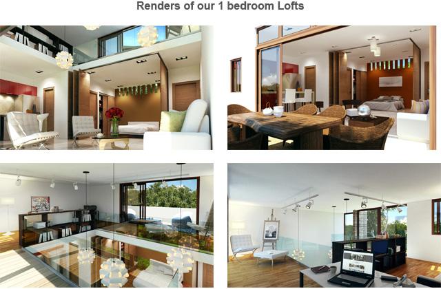 Renders of our 1 bedroom Lofts