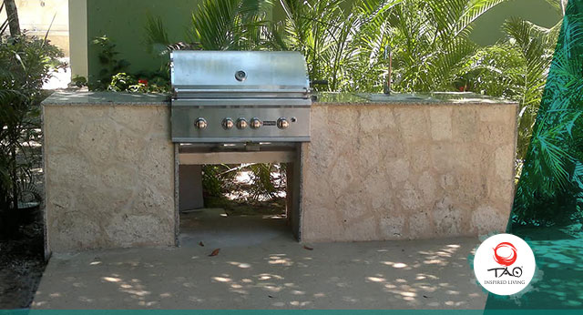 The BBQ by the community pool has already been installed and is ready to use