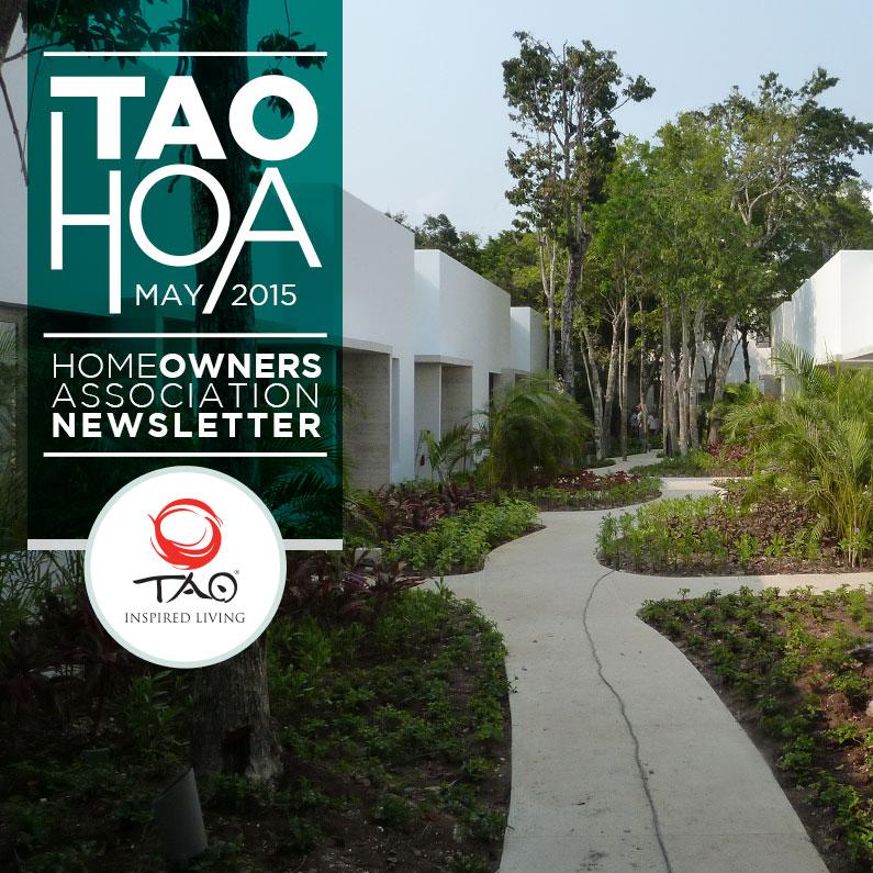 TAO Homeowners Newsletter | May 2015 | TAO Inspired Living
