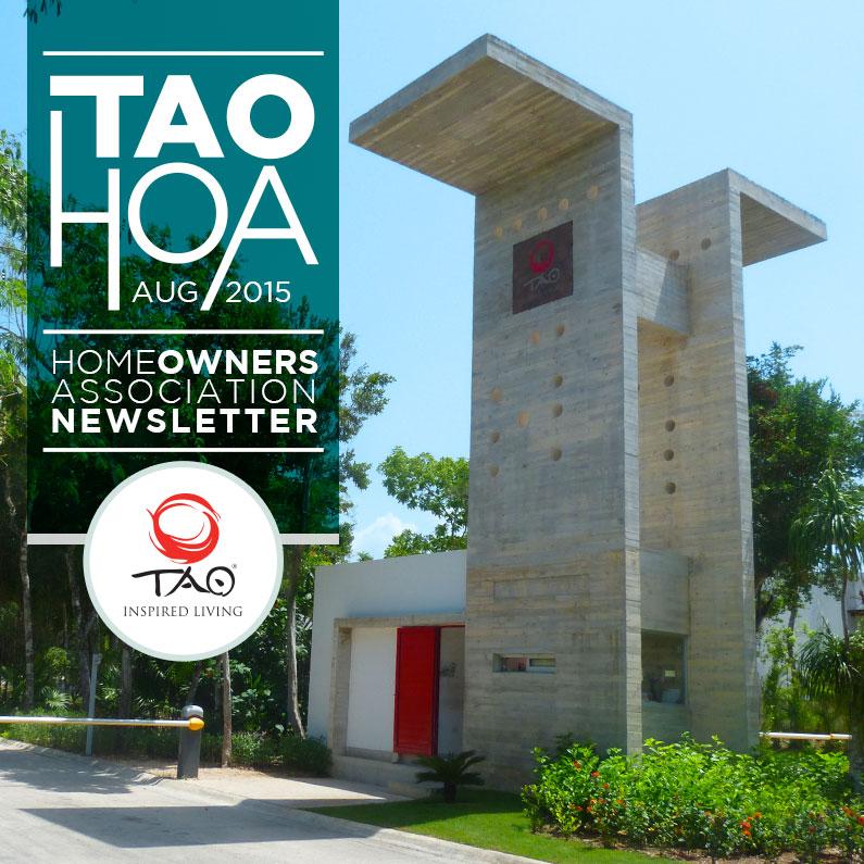 TAO Homeowners Newsletter | August 2015 | TAO Inspired Living