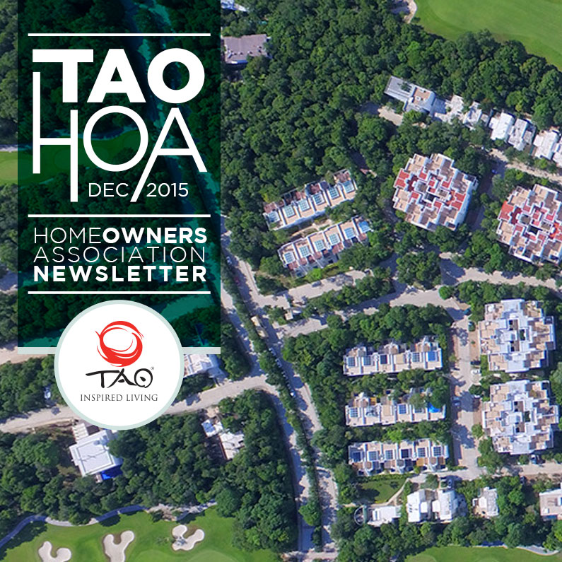 TAO Homeowners Newsletter | December 2015 | TAO Inspired Living