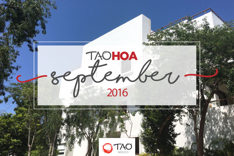 TAO Homeowners Newsletter | September / Septiembre 2016 | TAO México