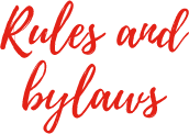 Rules and bylaws