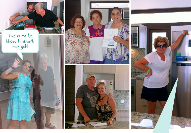 Deliveries: Jerry | Angélica & Daniela | Sandra | Me with Jerry | Susan & Max