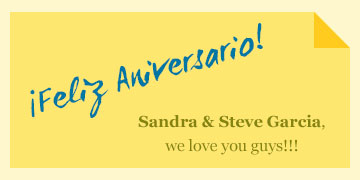 Happy Anniversary Sandra & Steve!