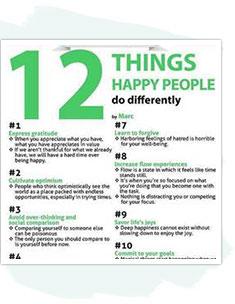 12 Things Happy People…