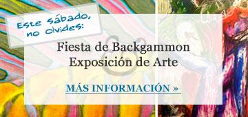 Fiesta de Backgammon & Exposición de Arte