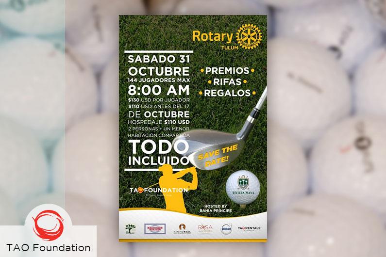 Saturday, 31st October 8am Golf Tournament.