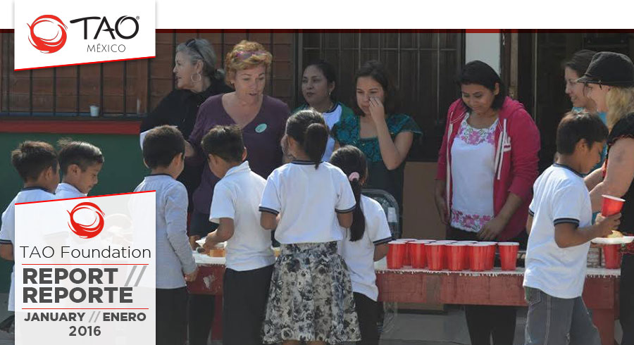 TAO Foundation Report | Reporte de la Fundación TAO | January / Enero 2016 | TAO Mexico
