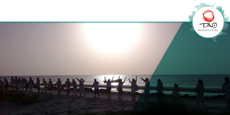 """Human Chain for """"Let's Save Holbox!"""""""