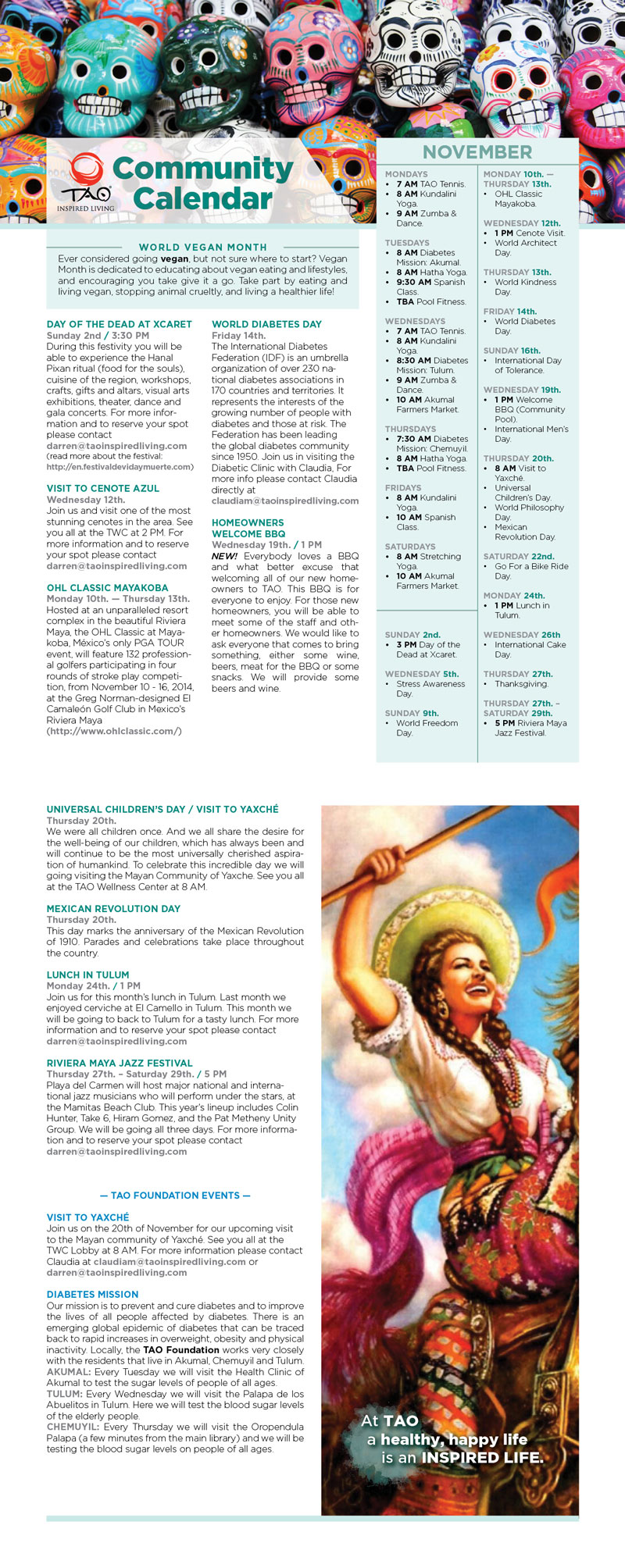 Community Calendar - November 2014
