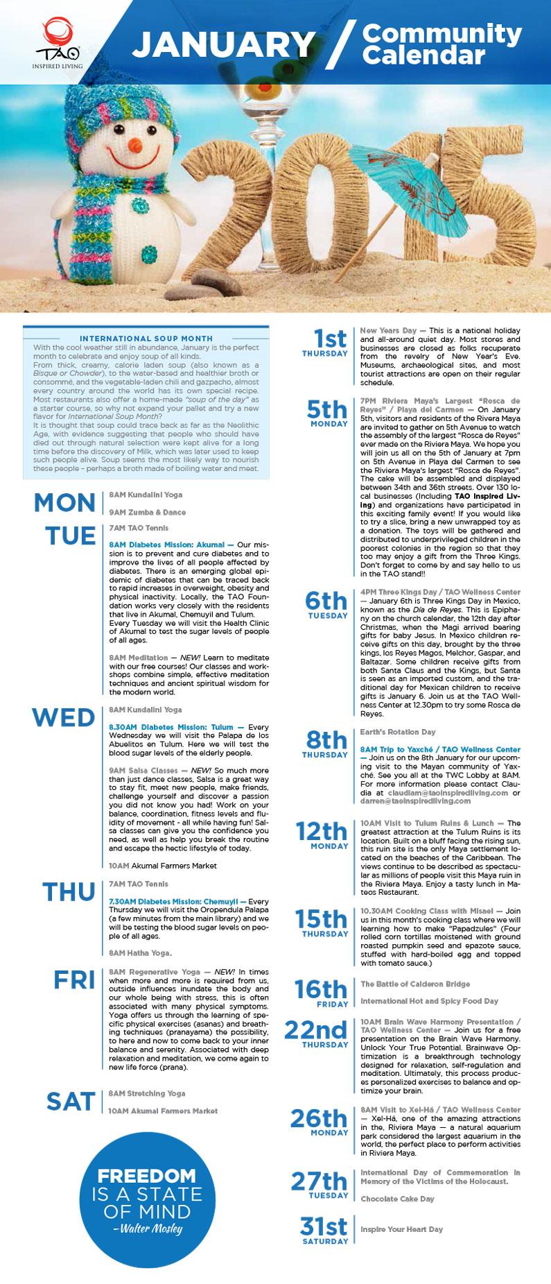 TAO Community Calendar / January 2015