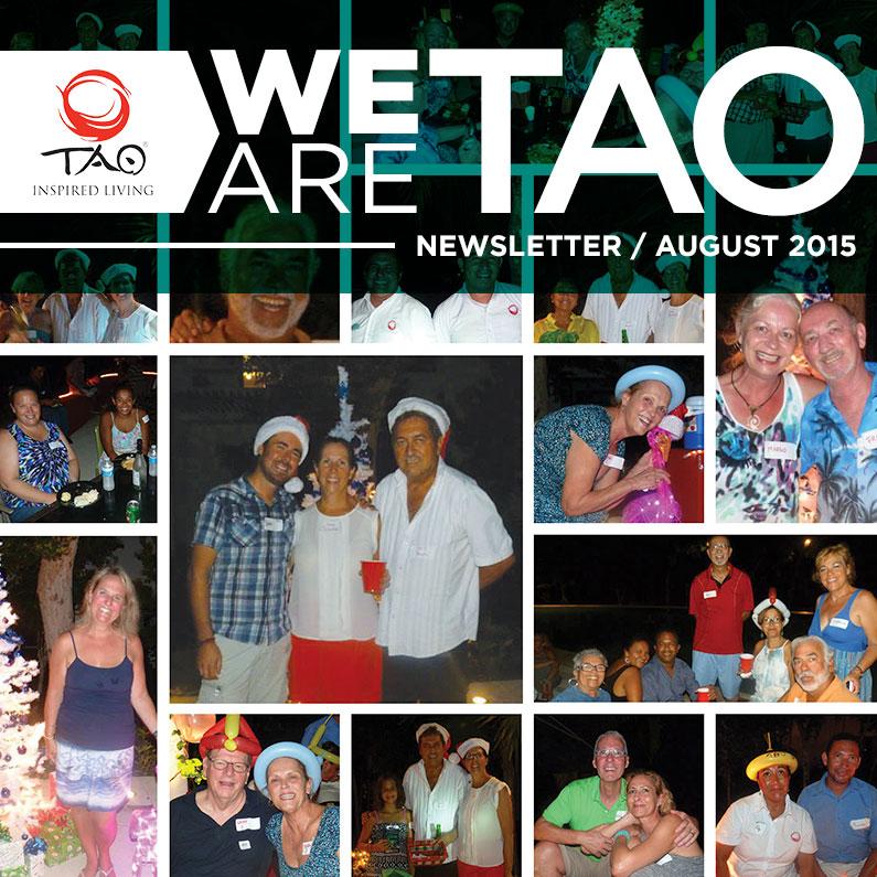 We Are TAO Newsletter / August 2015 / TAO Inspired Living