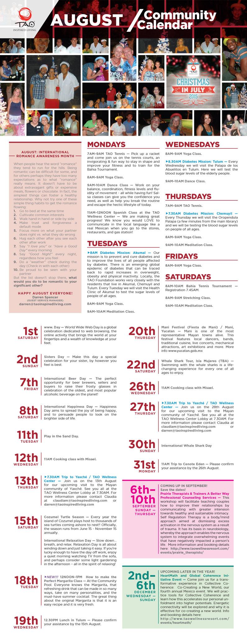 TAO Community Calendar / July 2015