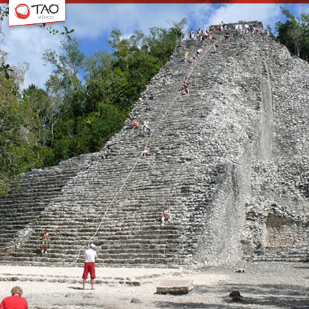 Cobá's Nohuch Mul, the tallest Maya pyramid in the Yucatán Peninsula
