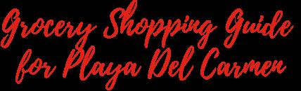 Grocery Shopping Guide for Playa Del Carmen